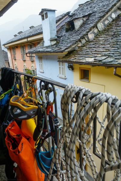 Drying gear (Canyoning Italy 2019)