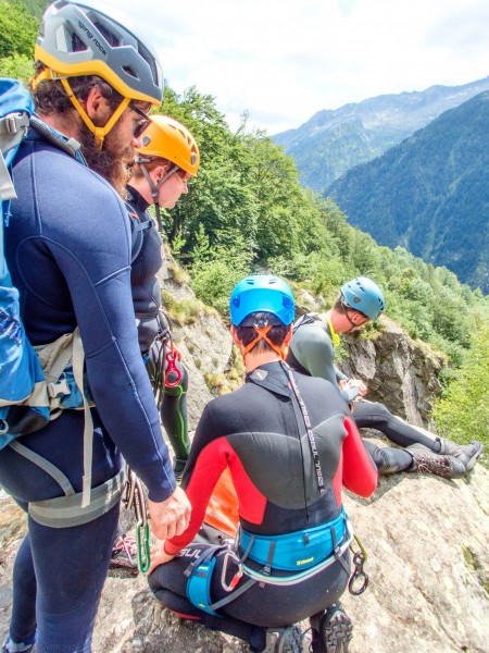 Getting ready (Canyoning Italy 2019)