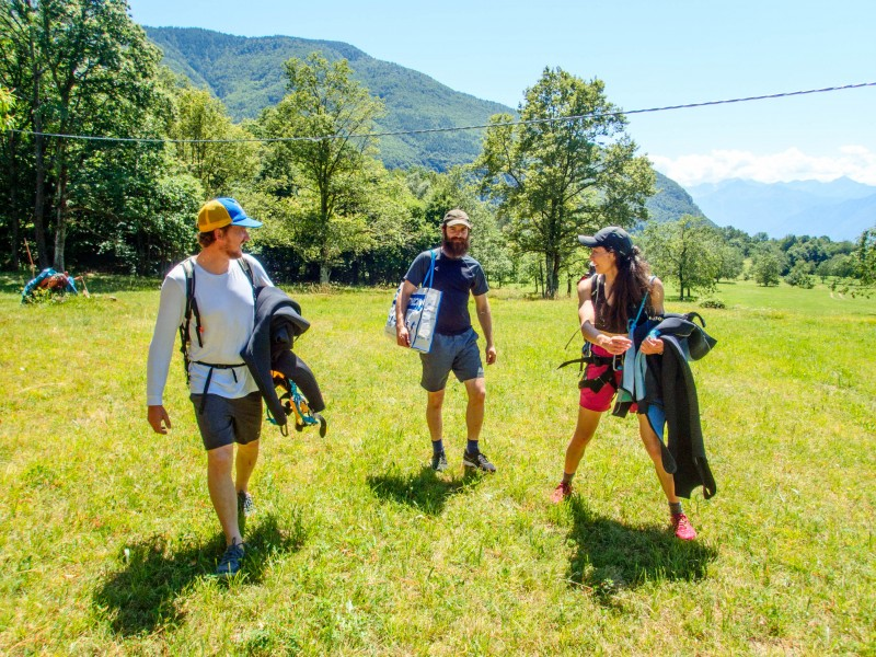 Patrick goes shopping in the meadows (Canyoning Italy 2019)
