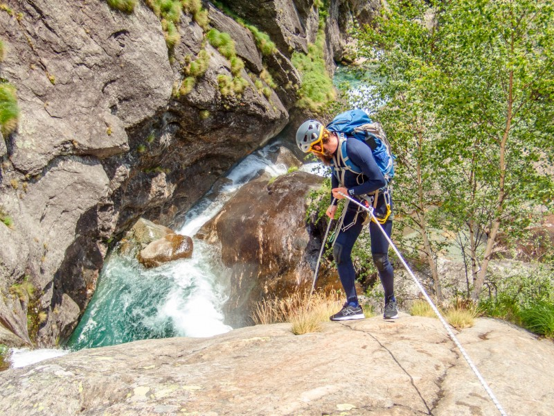 Pattrick abseiling (Canyoning Italy 2019)