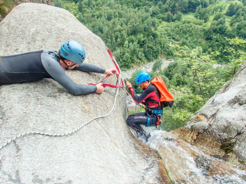 Technical abseil (Canyoning Italy 2019)