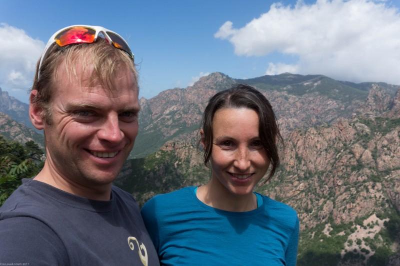 Cris and Leonie smiling (Corsica)