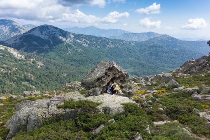 Hiding under a rock (Corsica)