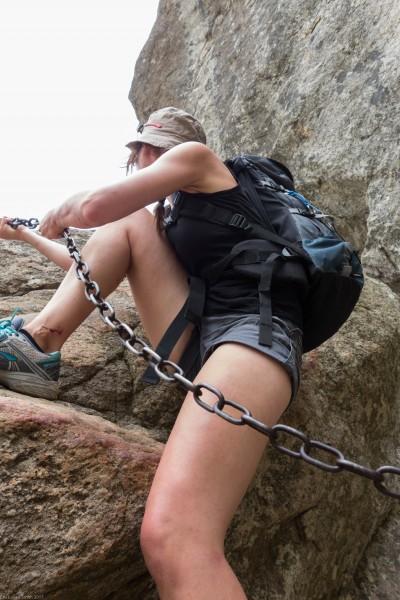 Leonie and chain (Corsica)