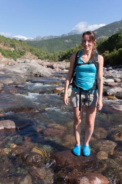 Leonie and river (Corsica)