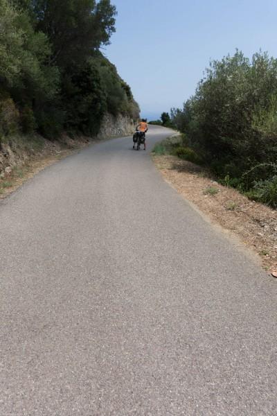 Leonie on the road (Corsica)