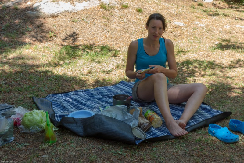 Picnic at the camp site (Corsica)