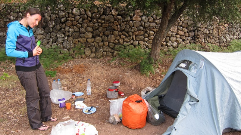 Camping in the mountains (Mallorca)