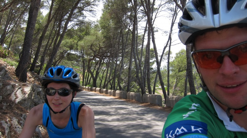 Cycling near the sea (Mallorca)