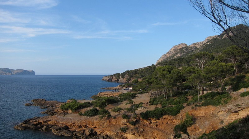 View down to beach (Mallorca)