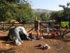 Cris and tent (Mallorca)