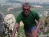 Cris climbing the mountain 2 (Mallorca)