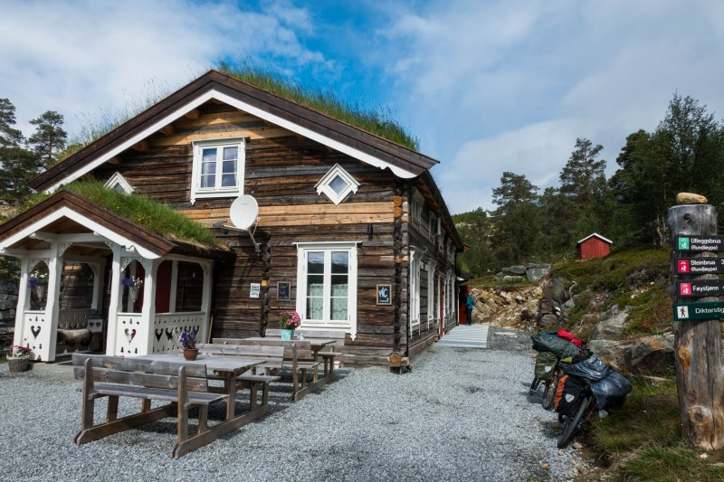 A restaurant near Reinheimen National Park (Cycle Touring Norway 2016)