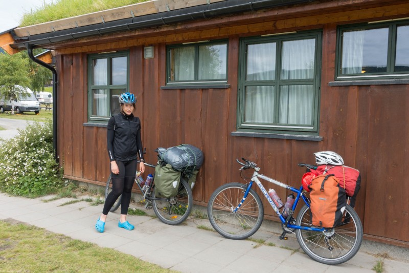 About to set off (Cycle Touring Norway 2016)