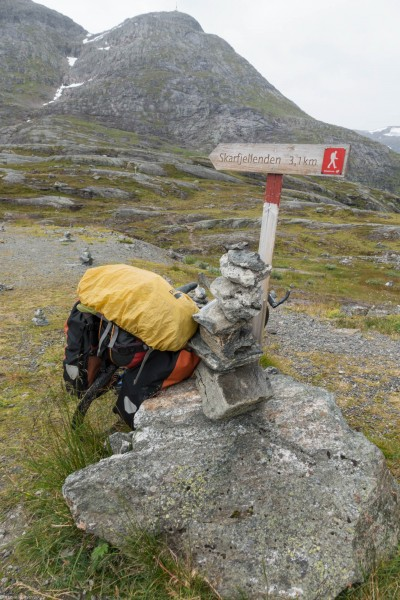 Bike and rocks (Cycle Touring Norway 2016)