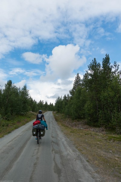 Blue sky (Cycle Touring Norway 2016)