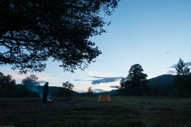 Camp site (Cycle Touring Norway 2016)