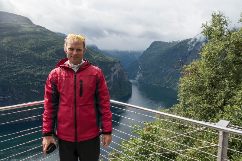 Cris and Geiranger (Cycle Touring Norway 2016)