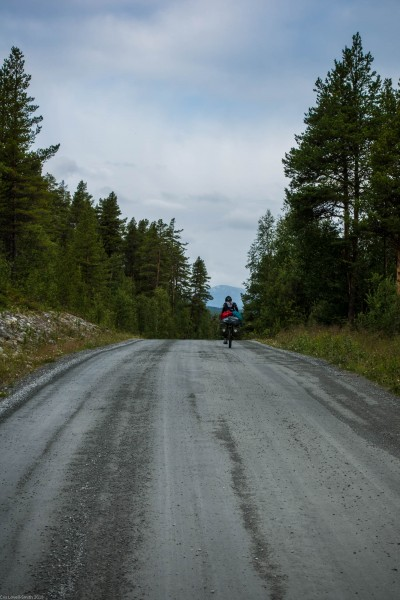 Cycling on gravel (Cycle Touring Norway 2016)