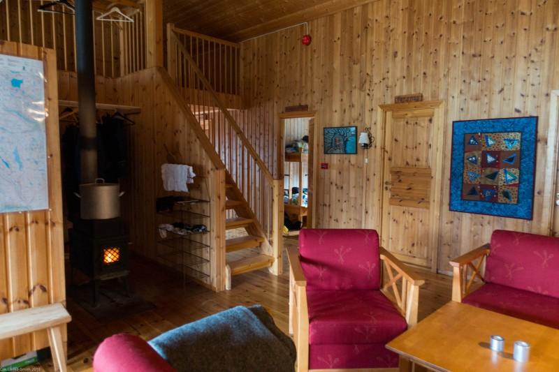 Inside Veltdalshytta (Cycle Touring Norway 2016)