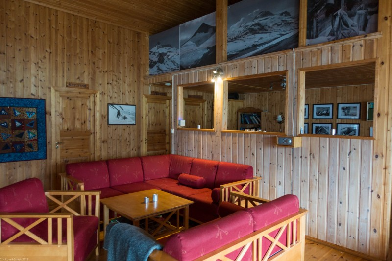Inside the hut mansion (Cycle Touring Norway 2016)