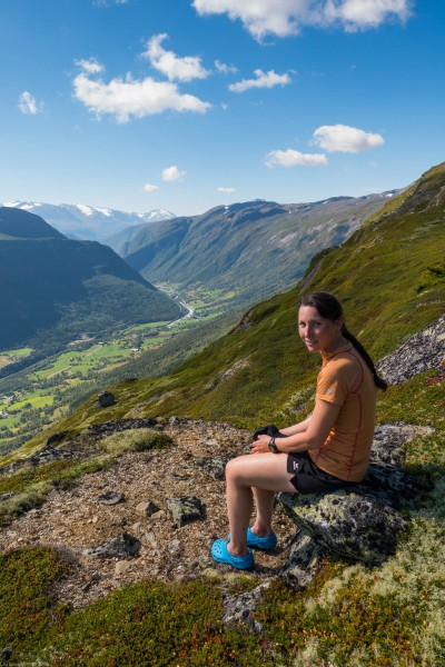 Leonie sitting (Cycle Touring Norway 2016)