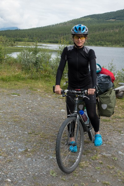 Near a lake (Cycle Touring Norway 2016)