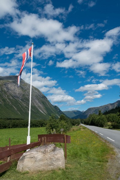 Norwegian flag (Cycle Touring Norway 2016)