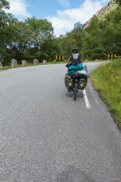 Riding (Cycle Touring Norway 2016)