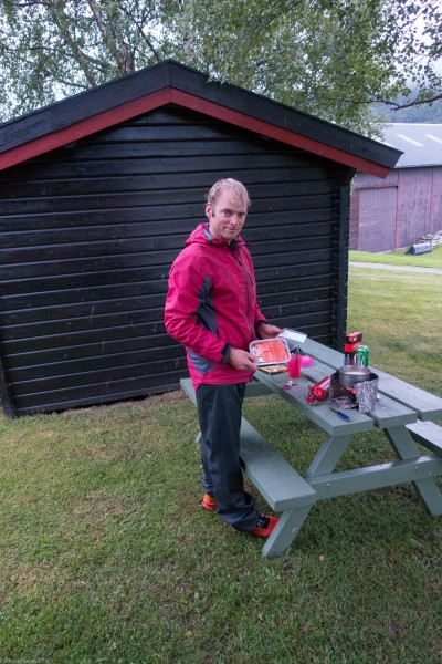 Salmon for dinner (Cycle Touring Norway 2016)