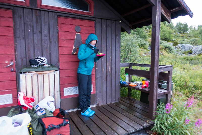 Sheltering at the toilet (Cycle Touring Norway 2016)