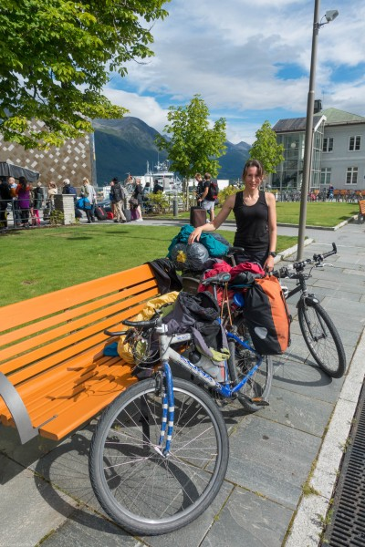 Sunshine in Andalsnes (Cycle Touring Norway 2016)