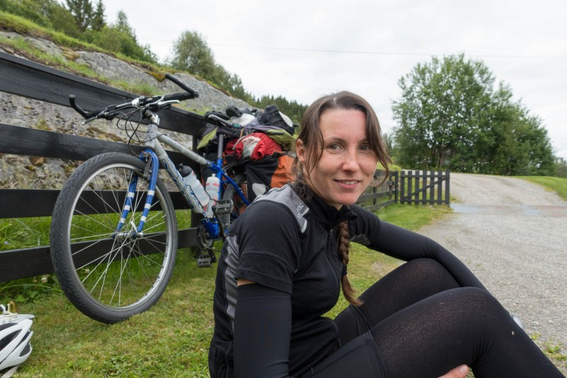 Taking a break (Cycle Touring Norway 2016)