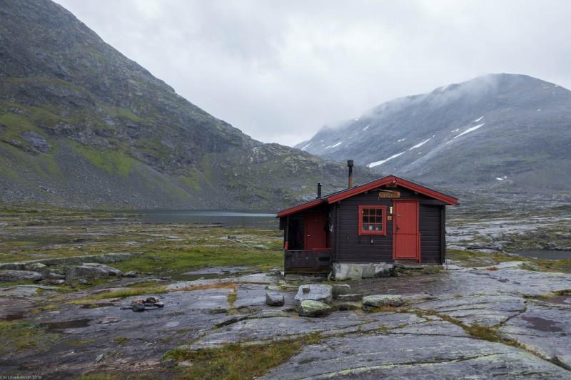 Tjønnebu hut (Cycle Touring Norway 2016)