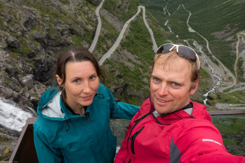 Us above the Trollstigen (Cycle Touring Norway 2016)