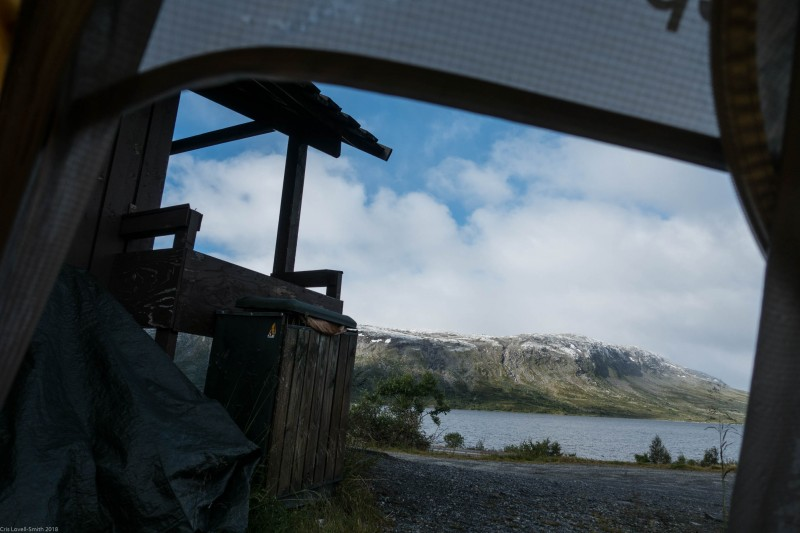 View from our toilet campsite (Cycle Touring Norway 2016)