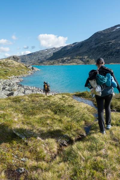 Walking near the lake (Cycle Touring Norway 2016)
