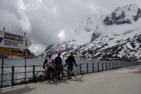 At Fedaia pass (Cycling  Dolomites)