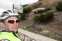 At passo Fedaia again (Cycling Dolomites)