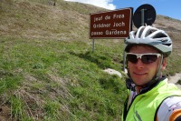 At passo Gardena (Cycling Dolomites)