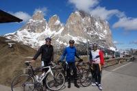 At passo Sella (Cycling Dolomites)