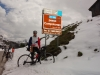 Cris at passo Campolongo (Cycling Dolomites)