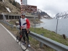 Cris at passo Fedaia (Cycling Dolomites)