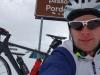 Cris at passo Pordoi (Cycling Dolomites)