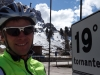 Cris at the 19th corner (Cycling  Dolomites)