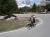 Cris cruising up to passo Pordoi (Cycling Dolomites)