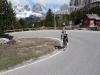 Cris heading up to Pordoi (Cycling  Dolomites)