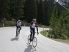 Marco and Thomas ascending to passo Sella (Cycling Dolomites)