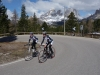 Marco and Thomas heading up to Pordoi (Cycling  Dolomites)