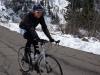 Marco riding towards Gardena pass (Cycling Dolomites)